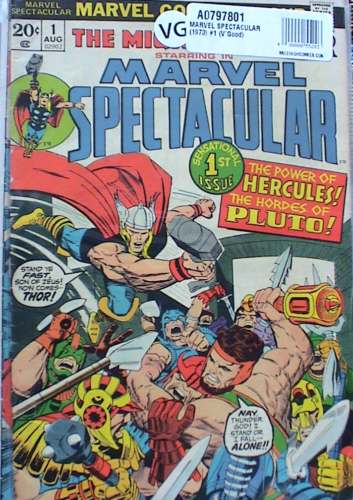 1973 MARVEL COMICS V//G+ THE MIGHTY THOR STARRING IN MARVEL SPECTACULAR #4